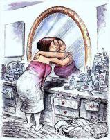 Kijk eens vaker in de spiegel en houd van jezelf.: