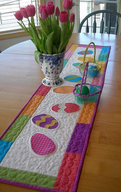 easter runner by lala216 via flickr easter sewing. Black Bedroom Furniture Sets. Home Design Ideas