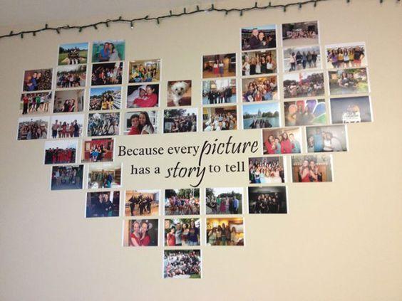 Ein Bild Sagt Mehr Als Tausend Worte Mach Deine Ganz Eigene Galerie Auf Originelle Weise Mit Diesen 2 Picture Collage Wall Picture Collage Heart Photo Collage