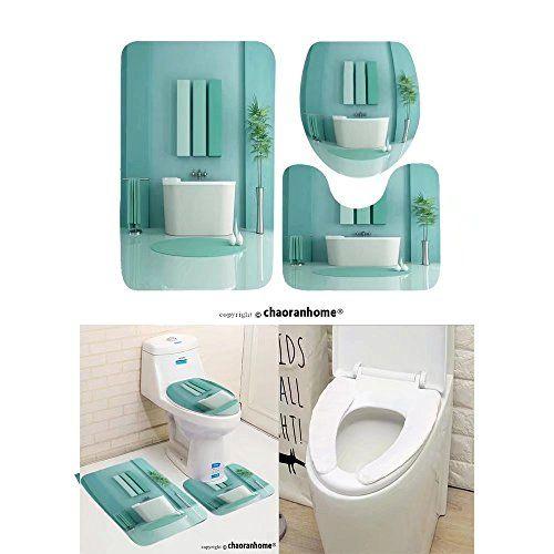 Chaoranhome Pattern Bath Mat Set 3, Contemporary Bathroom Rug Sets