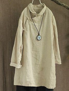 Primavera de 2015 nuevos productos enumerados, diseño original suelta yardas grandes 100% algodón de lino XieJin mujeres camisas