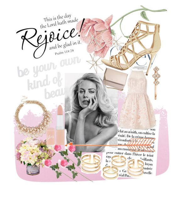 """Rejoice and be happy : )"" by emily-marie-de-leon ❤ liked on Polyvore featuring beauty, Designers Guild, PBteen, Lipsy, Rimmel, Sergio Rossi, Henri Bendel, Uttermost and Givenchy"