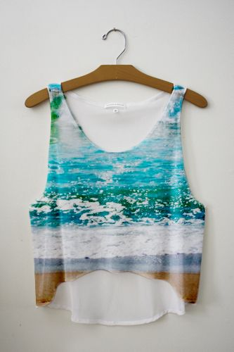 Ocean Crop Top~By Fresh Tops