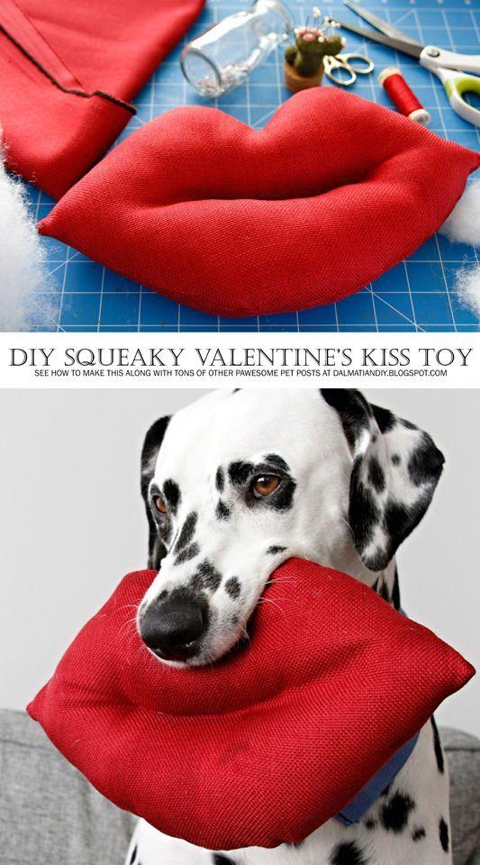 Diy Giant Lips Squeaky Softie Valentine S Day Dog Toy Valentines
