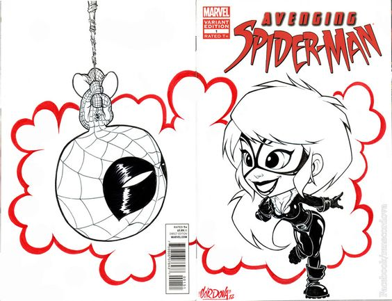 Spidey & Black cat Blank cover , for Thehobbystore Xalapa , Elias Ortiz , hope u likeit .