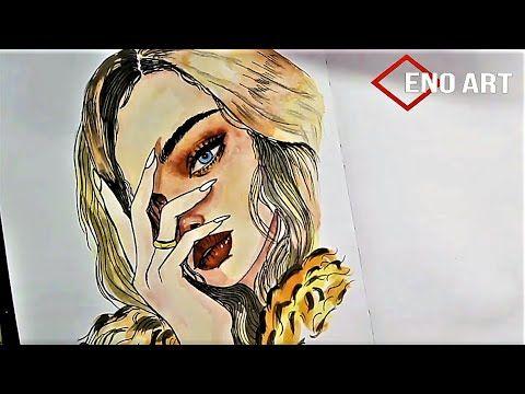 رسم فتاه تضع يدها على وجهها بطريقه سهله جدا بالالوان المائيه للمبتدئين تعليم الرسم Youtube Girl Drawing Drawings Art