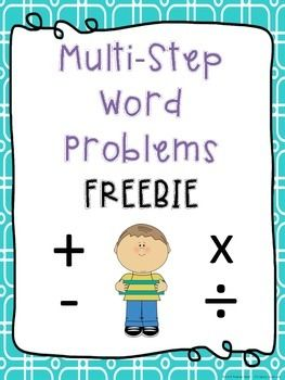 math worksheet : freebie  multistep word problem freebie  make multistep word  : Multiple Step Word Problems 3rd Grade Worksheets