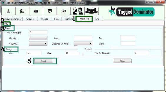 meet multiple people using TaggedDominator