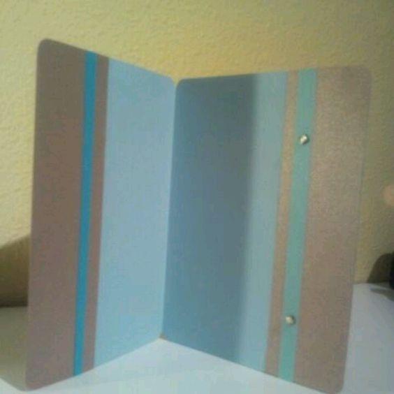Tarjeta en textura cuero, parte interior