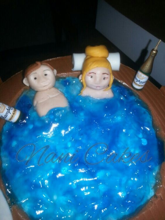 Jacuzzi 50th birthday cake