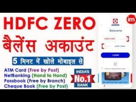 Hdfc Bank Zero Balance Account Opening Online 2020 How To Open Zero Balance Account In Hdfc Bank Video Analysis Hdfc In 2020 Saving Money Finance Online Accounting