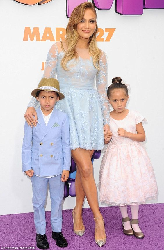 Family: Marc Anthony has two children with his ex J.Lo, Max and Emme, pictured at the Home...