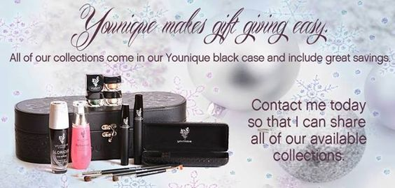 "Younique Make-up, Try it, you will love it! Welcome to the ""Virtual Make-up Spa Party""! Would you like to hostess a party but don't have time, or a large enough home are your friends are all over the Country. Book a ""Virtual Make-up Spa"" party with me and receive FREE prizes & bonuses! or Join my Team and have your own Make-up party business. So many ways to sell and earn residual  income!!"