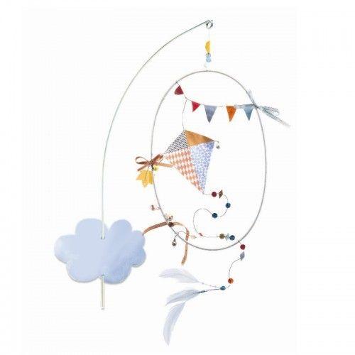 Djeco Mobile Kinderdrachen am Himmel im Geschenkumschlag aus der Serie little BIG room - Bonuspunkte sammeln, auf Rechnung bestellen, Blitzlieferung per DHL