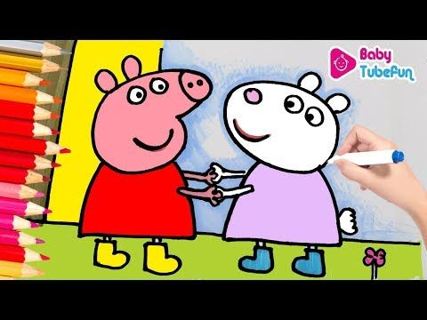 Peppa Pig Coloring Book Pages Kids Fun Art Activities Videos For Children Learning Rainbow Colors Yout Coloring Books Peppa Pig Colouring Coloring Book Pages