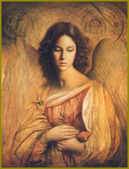 Ulisse Sartini. Angelo della Pace - olio su tela (Ангел Мира - холст, масло):