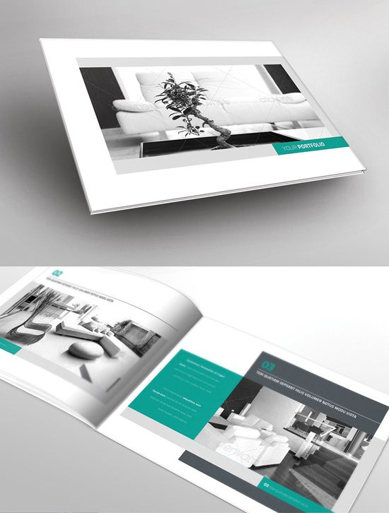 11 portfolio brochure 18 inspiring and attractive brochure for Attractive brochure designs