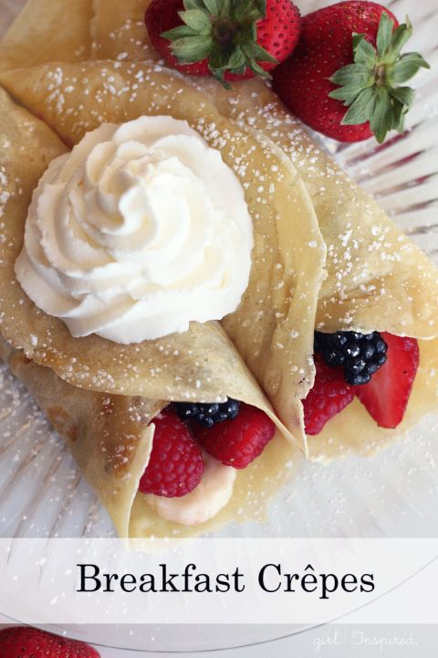Chocolate Raspberry Crepes | Simple, Breakfast crepes and ...