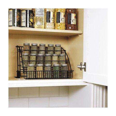 Rubbermaid Pull-Down Spice Rack - Black | Spice racks, Shelves and ...