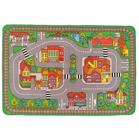 Home kids alfombra 95x133 cm infantil pista - Alfombra circuito coches ...