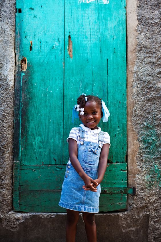 Haitian little girl, so cute!