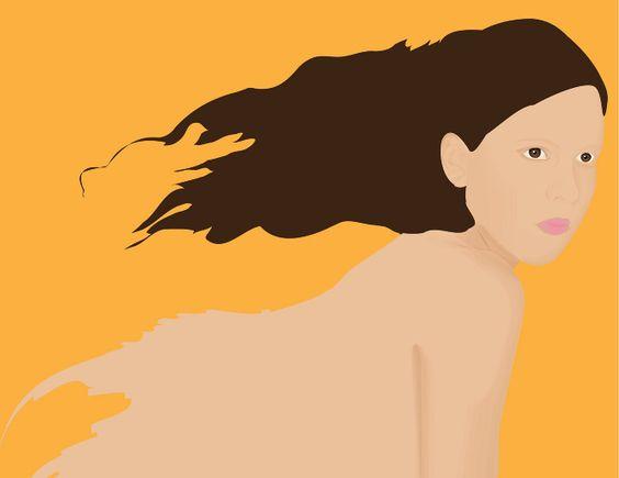 Ilustração inspirada em Mayara. || www.luizaaires.com