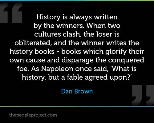 When did losers write history?
