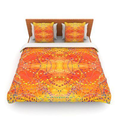 KESS InHouse Sunrise by Nikposium Woven Duvet Cover Size: