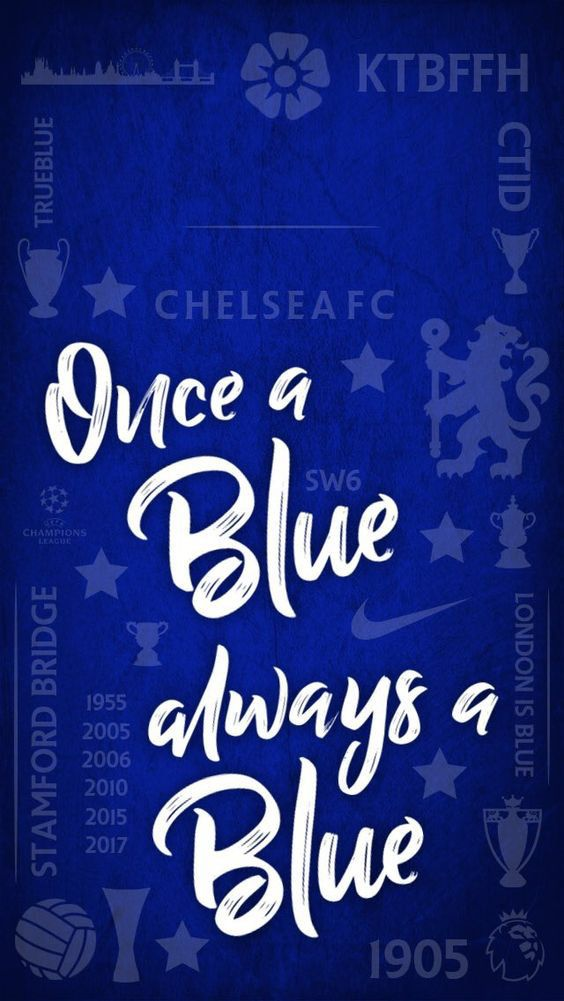 This Is A Different Visually Pleasing Wallpaper Because It Doesn T Have A Player S But Rather A Saying Once A Blue Always A Blue W Sepak Bola Olahraga Lucu