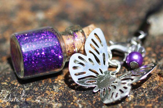 Strap papillon argenté