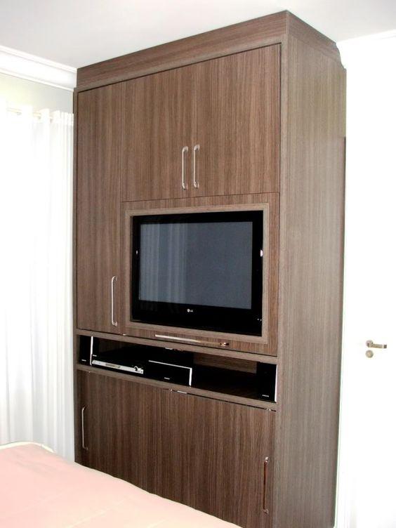 Guarda roupa com tv apartamento pesquisa google for Colores para apartamentos pequenos