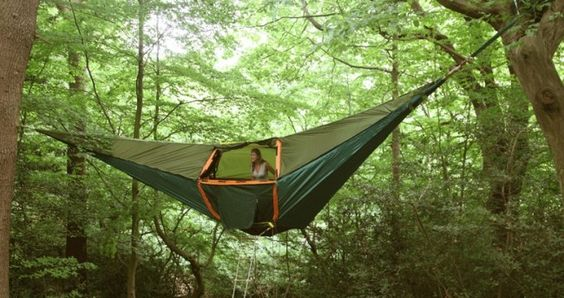 Tentsile: a floating tent come tree house.