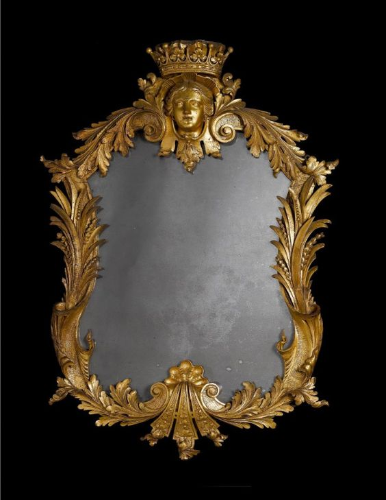John Vardy (1718-1765) - George II Mirror. Carved & Gilt Wood and Mirrored Glass. Part of a Set of Four Commissioned for Castle Howard in Yorkshire. Probably Designed for Henry, 4th Earl of Carlisle (1694-1758). England. Circa Mid-18th Century.