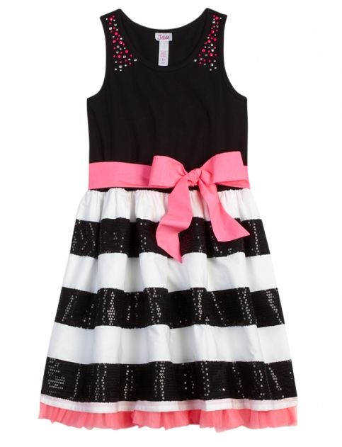 Sequin Stripe Dress | Girls Swimsuits Swimwear | Shop Justice ...