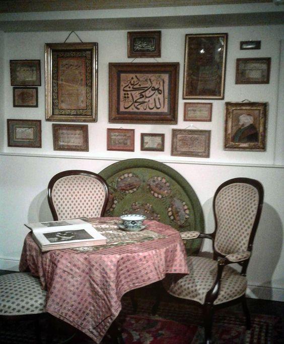 "Exhibition Sabancı Museum 2017 May  Feyhaman Duran ""between two worlds""  (1886-1970) His room and examples of his calligraphic works and paintings ----------------------------------------------------------- Sergi, ''İki Dünya Arasında'' Sabancı Müzesi, Ressam Hattat Feyhaman Duran Mart 2017.  Sergi Temmuz ayına kadar devam ediyor.:"