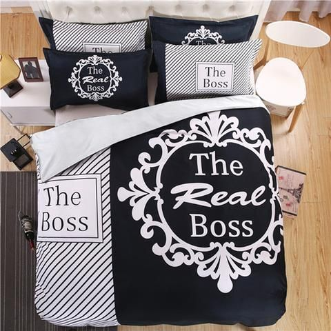 the real boss bedding set for couples