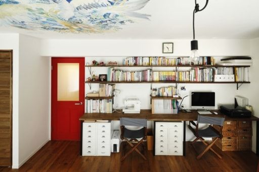 子ども部屋の天井に巨大アート モチーフは家族の星座 子ども部屋