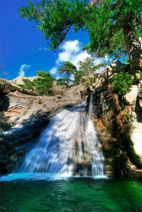 Cascade des Anglais en Corse