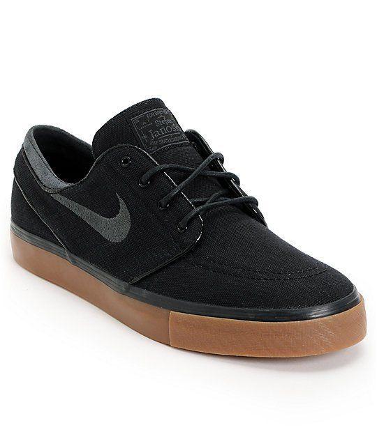 Nike Sb Zoom Stefan Janoski Black Anthracite Gum Canvas Shoes Giftryapp Janoski Black Nike Shoes Roshe Nike Shoes Women