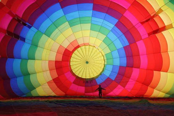 inflating hot air balloon Cappadocia turkey