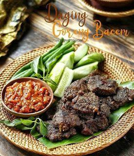 Daging Goreng Bacem Resep Daging Resep Resep Masakan