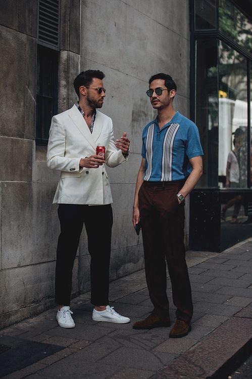Street style à la Fashion Week homme printemps été 2019 de
