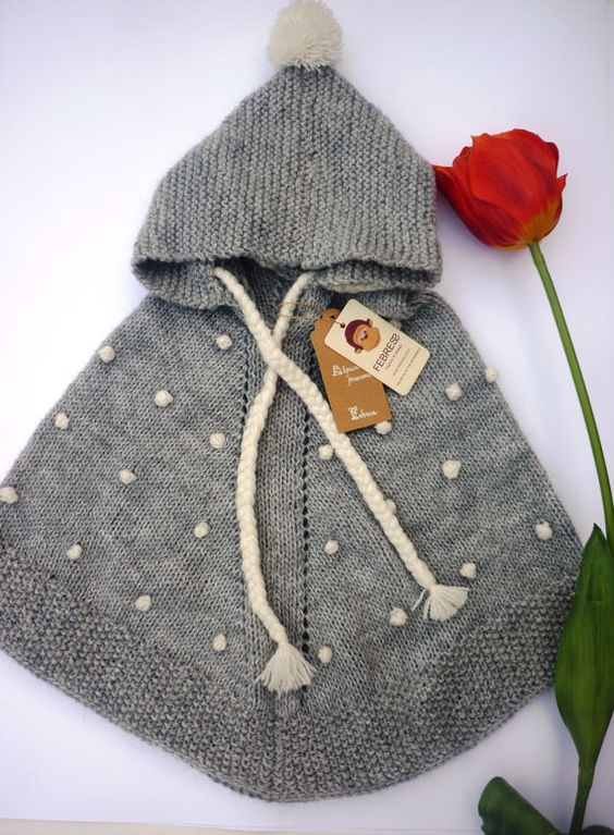 Knitting Pattern Baby Poncho With Hood : Pinterest   The world s catalog of ideas