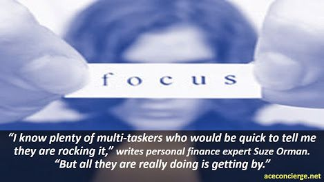 #Productivityhack  Stop multi-tasking. It is counterproductive, ineffective and decreases your dedicated focus on the immediate task at hand.