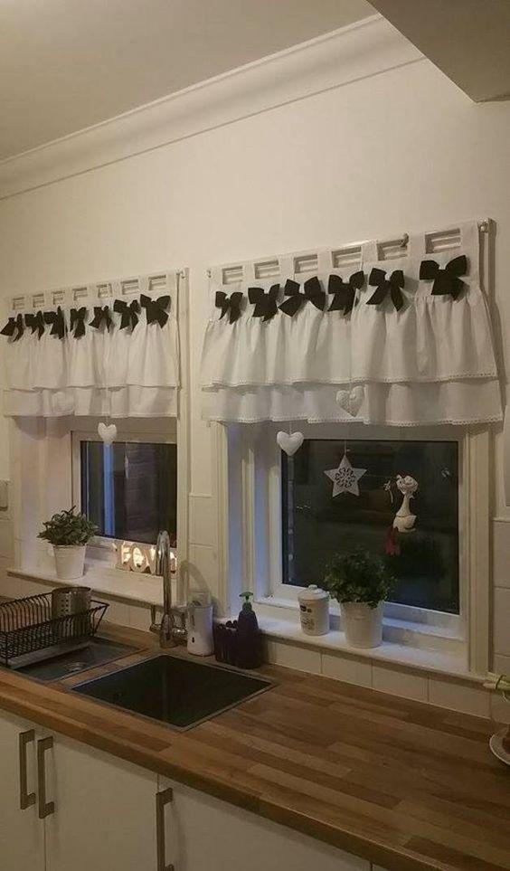 gardinen die englische k che 60 cm rustikalen shabby chic ein designerst ck von retro chic. Black Bedroom Furniture Sets. Home Design Ideas