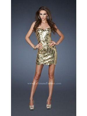 La Femme 18601 Evening Dress www.madamebridal.com