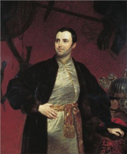 Portrait of M. A. Obolensky ~  Karl Pavlovich Bryullov ~  (Russian, 1799 – 1852)