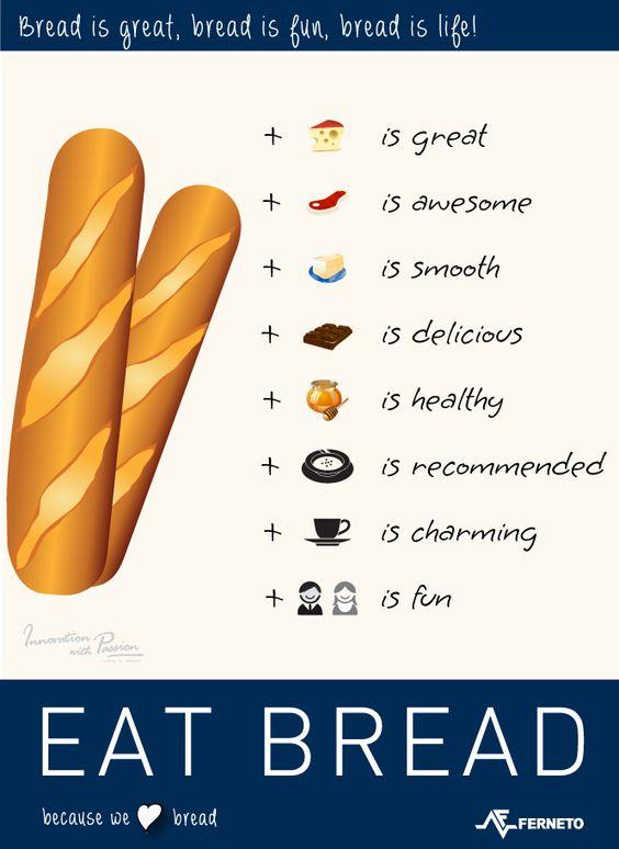 Coma pão / Eat bread! / Coma pan / Mange du pain