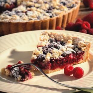 A perfect dessert recipe for fresh raspberries, try this beautiful Raspberry-Almond Crumb Tart.