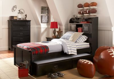 Shop For A Mission Black 5 Pc Twin Bookcase Bedroom At Rooms To Go Kids.
